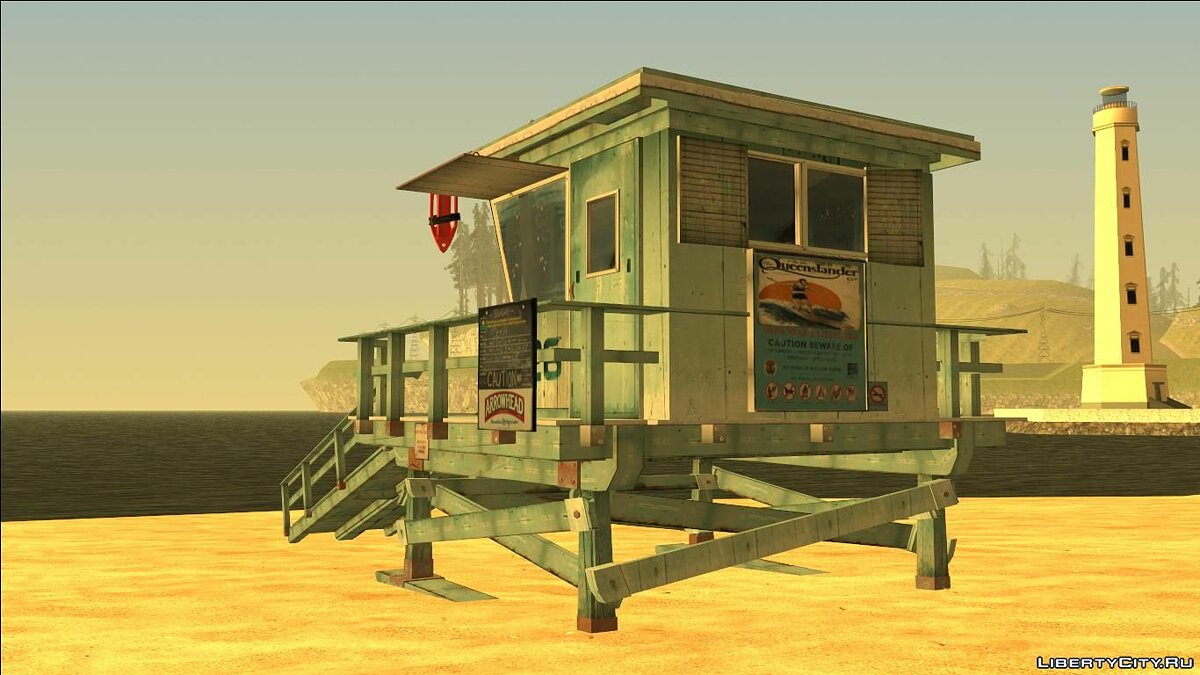 New object INSANITY Lifeguard Station for GTA San Andreas