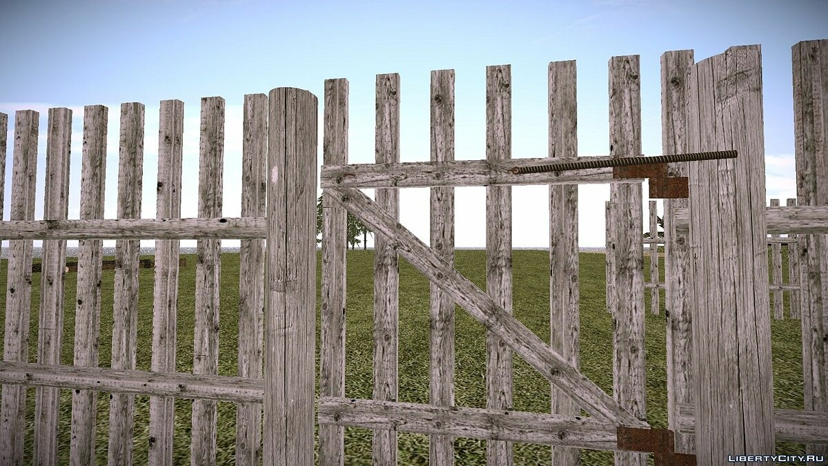 New object An old rural fence. for GTA San Andreas