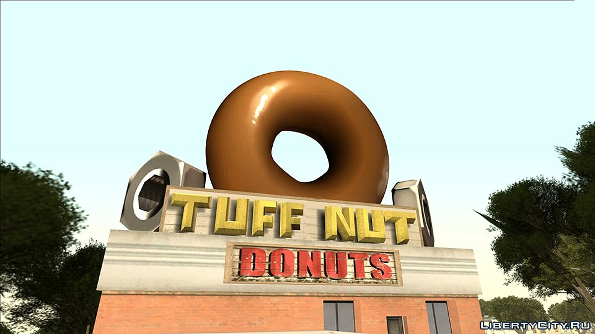 New object Round Donuts - Smuff Nut for GTA San Andreas