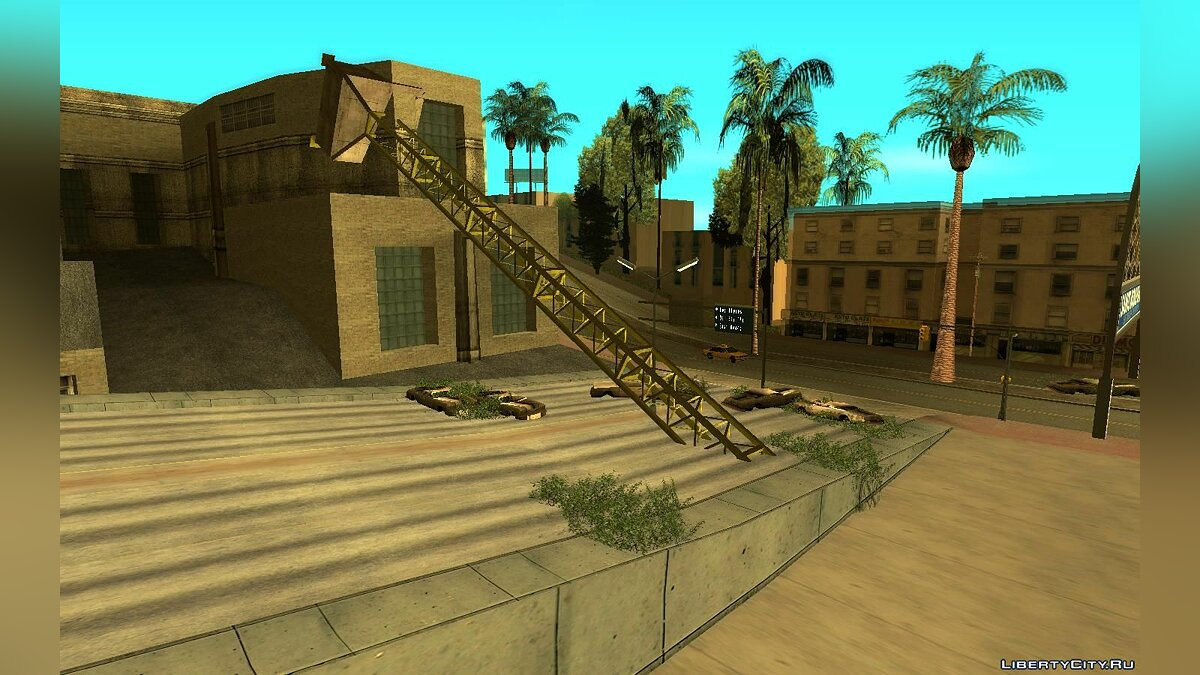 New object The collapse of the crane in Los Santos for GTA San Andreas