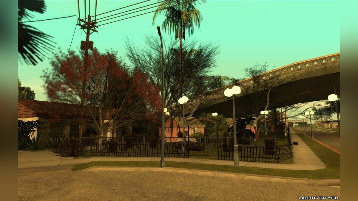 New object Halloween Decorations on Grove Street v.01 for GTA San Andreas