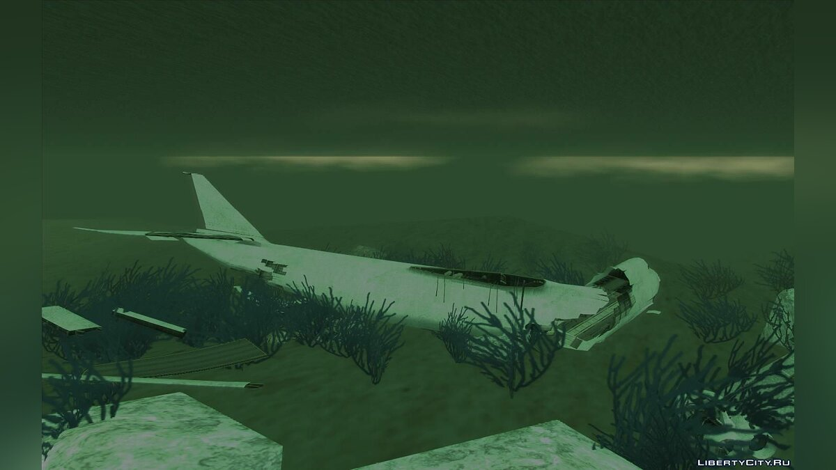 New object GTA 5 cargo plane under water + UFO for GTA San Andreas