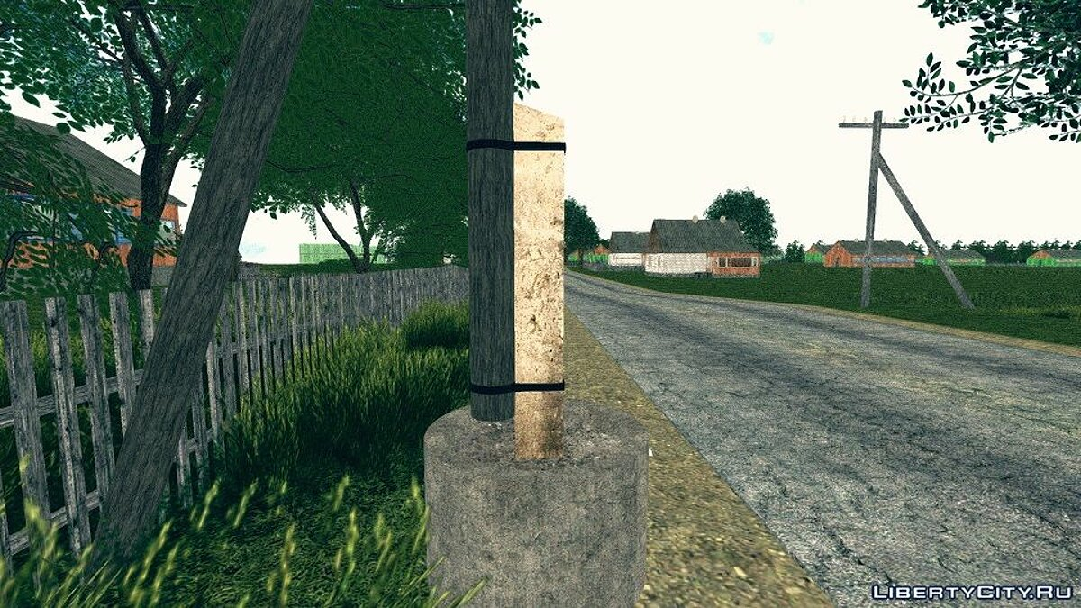 New object [SelPo] Village power lines for GTA San Andreas
