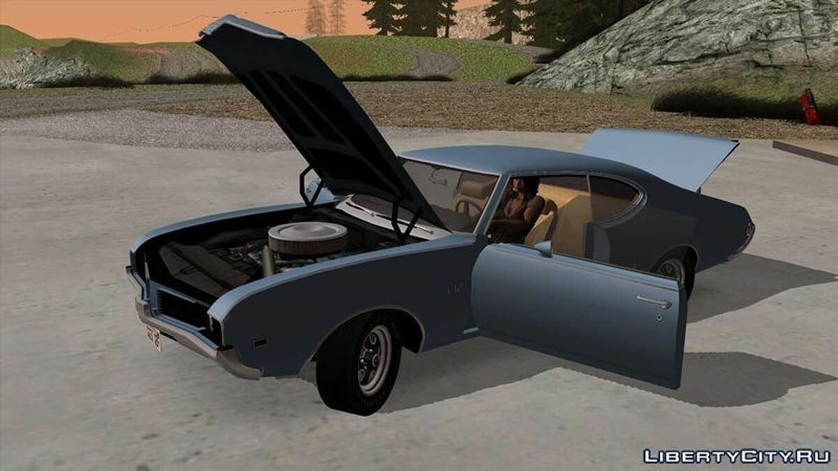 Oldsmobile car Oldsmobile 442 Holiday Coupe (4487) 1969 for GTA San Andreas