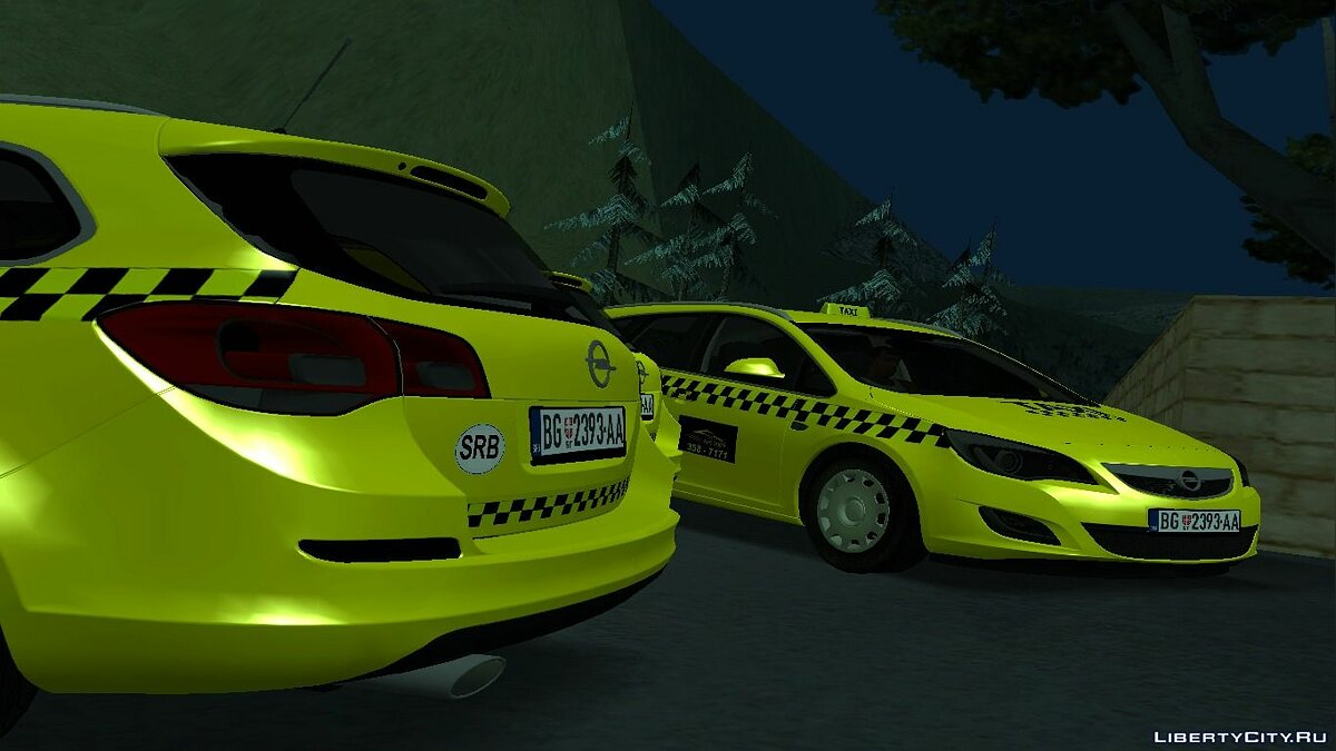 Opel car Opel Astra J Kombi Taxi for GTA San Andreas
