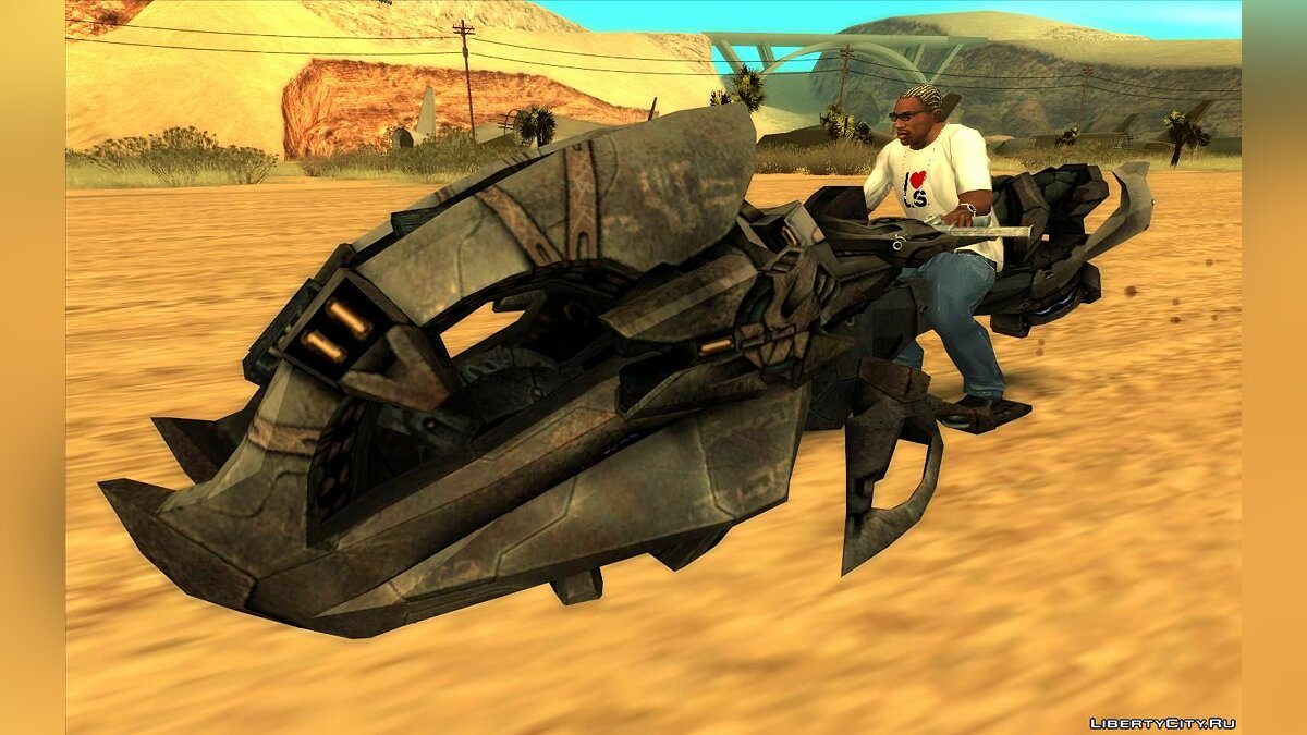 Other car Brute Chopper from Halo for GTA San Andreas
