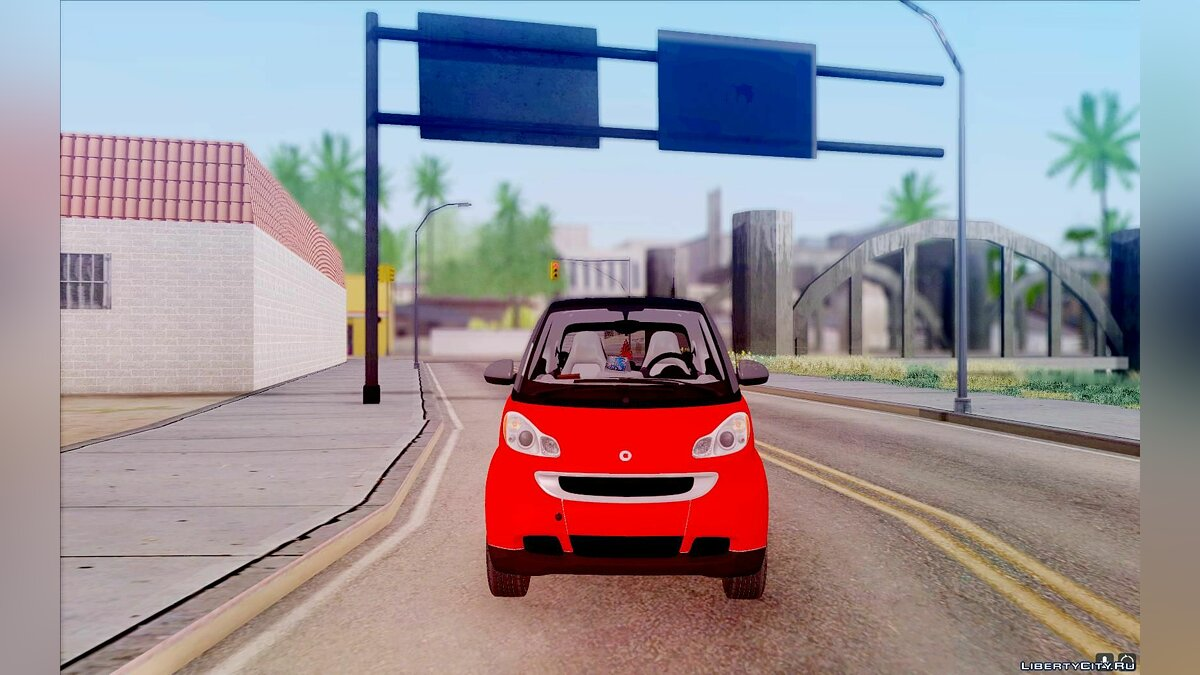 Other car Smart ForTwo Coca-Cola Worker for GTA San Andreas