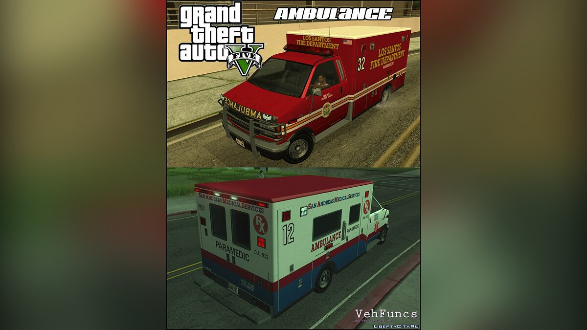 Other car Brute Ambulance from GTA 5 for GTA San Andreas