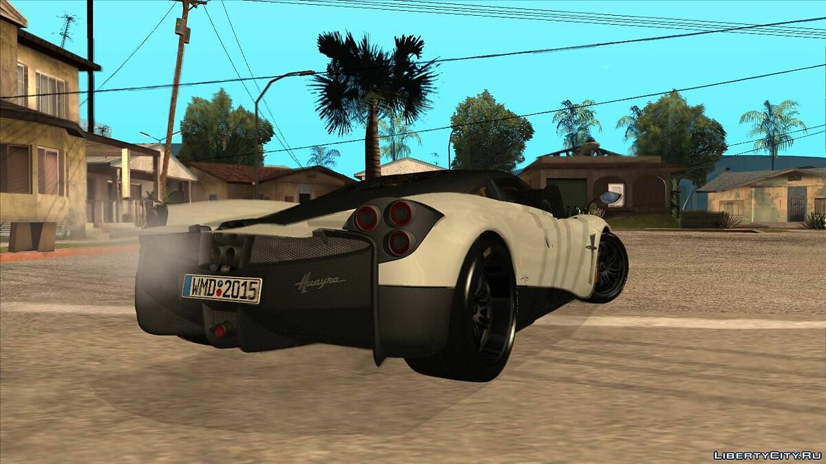 Pagani car Pagani Huayra 2013 Extra Spoiler for GTA San Andreas