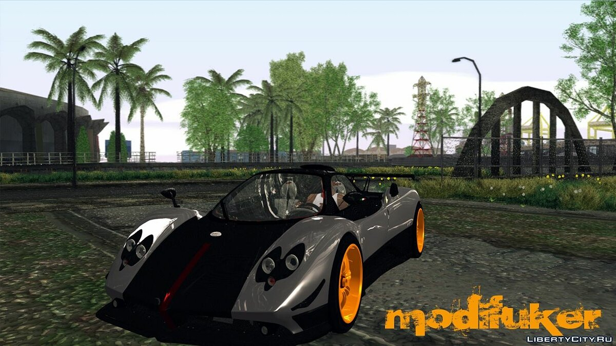Pagani car Pagani Zonda Cinque for GTA San Andreas
