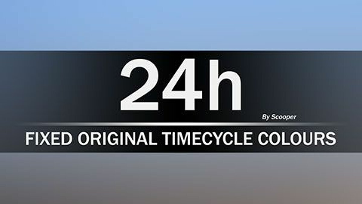 Mod 24h Fixed Original TimeCycle Colors 1.1 for GTA San Andreas