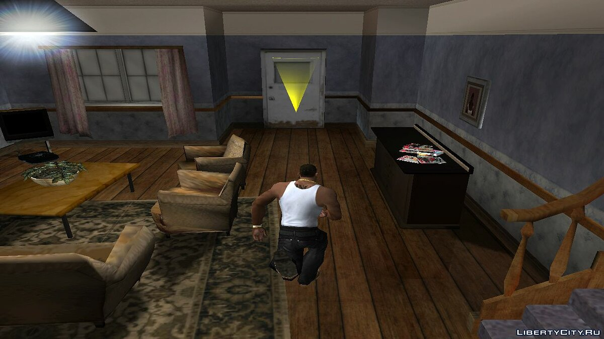 Mod Running in the room for GTA San Andreas