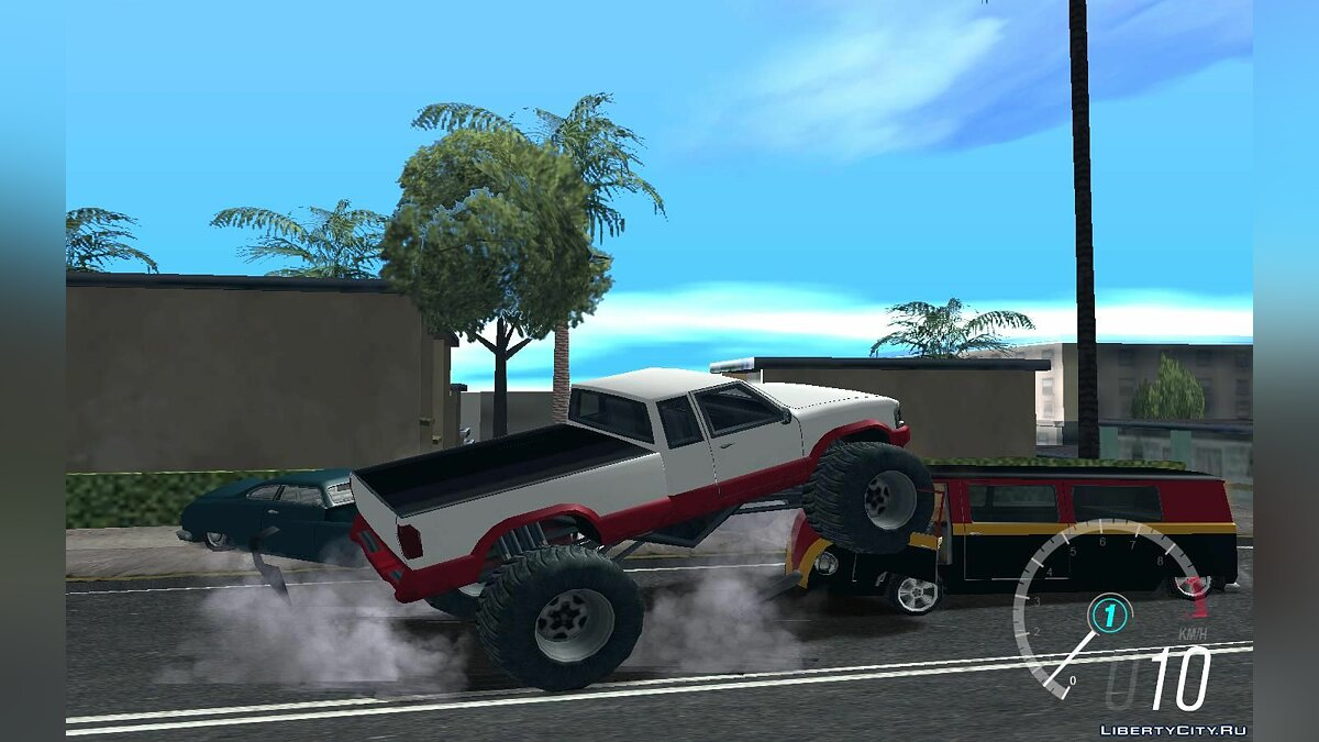 Mod Realistic suspension for Monster 4WD for GTA San Andreas