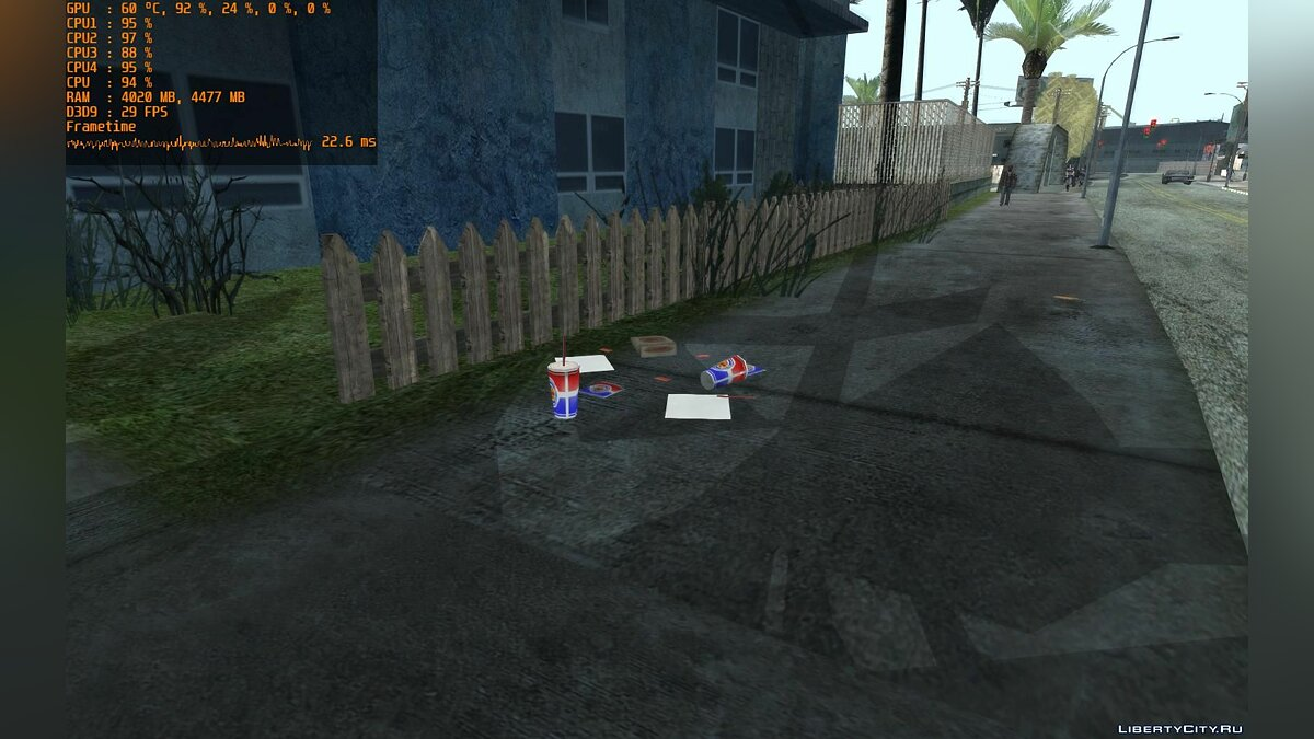 Mod Leaves, newspapers and garbage on the roads of GTA SA for GTA San Andreas
