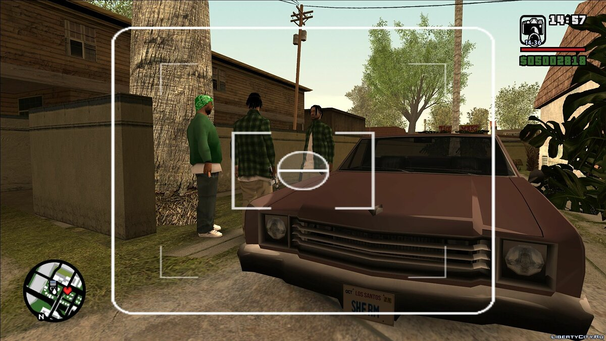 Mod Ability to squat with a camera for GTA San Andreas