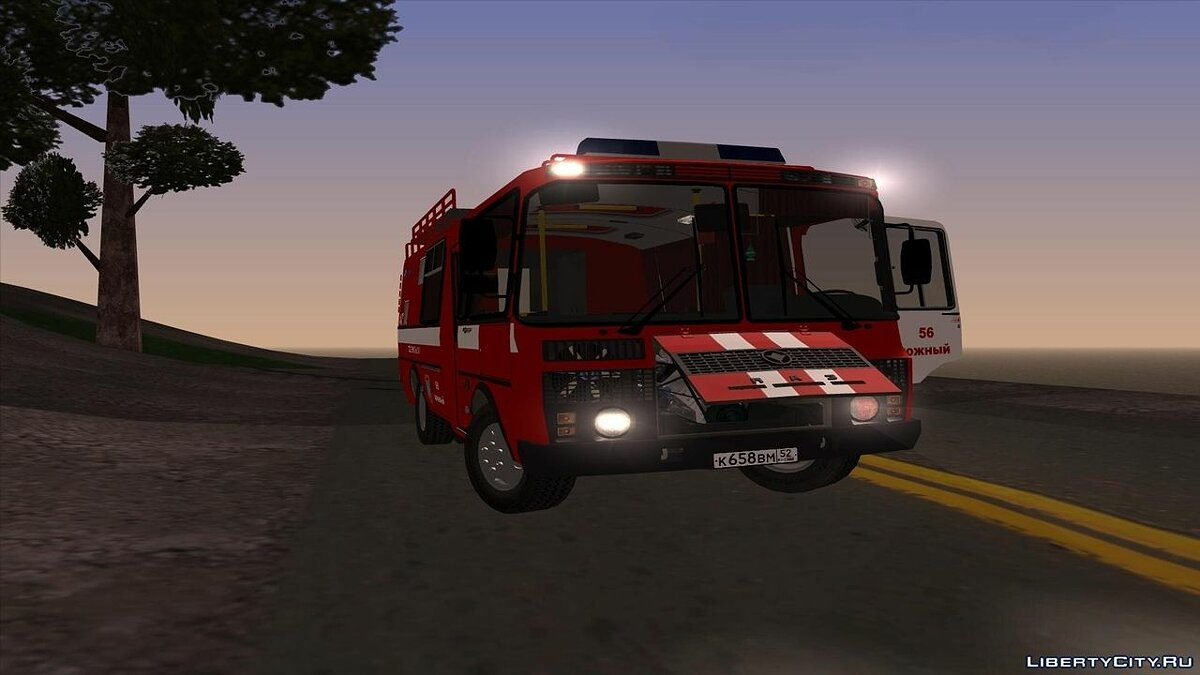PAZ car PAZ AGDZS, Ministry of Emergency Situations of the Russian Federation (EMERCOM of Russia) for GTA San Andreas