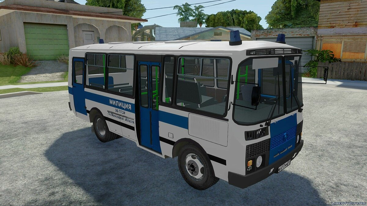 PAZ car PAZ-3205 Police ABOUT PPSM for GTA San Andreas