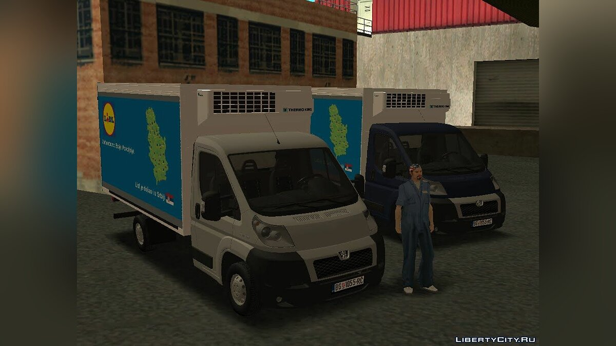 Peugeot car Peugeot Boxer Lidl Worker for GTA San Andreas