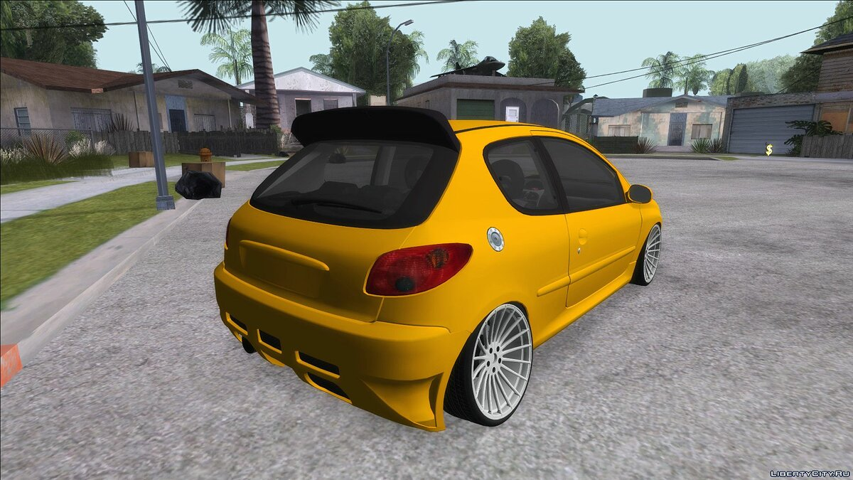 Peugeot car Peugeot 206 Camber Style for GTA San Andreas