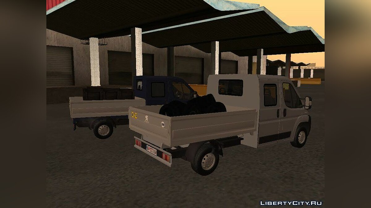 Peugeot car Peugeot Boxer Pickup Double Cabin for GTA San Andreas