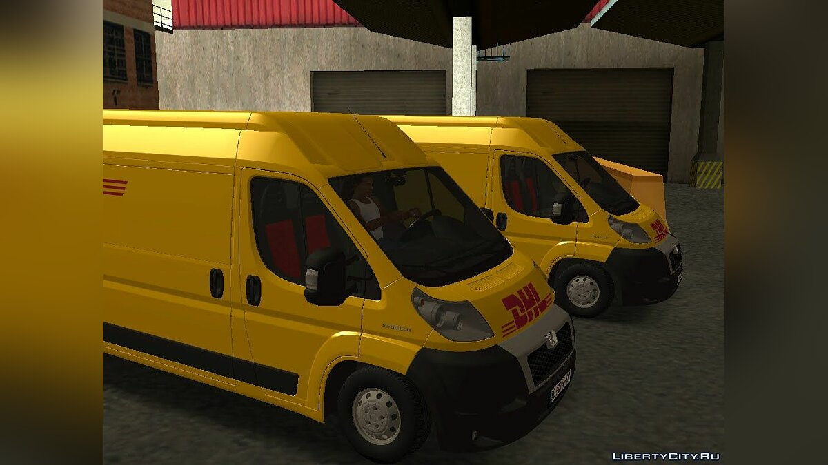 Peugeot car Peugeot Boxer DHL for GTA San Andreas