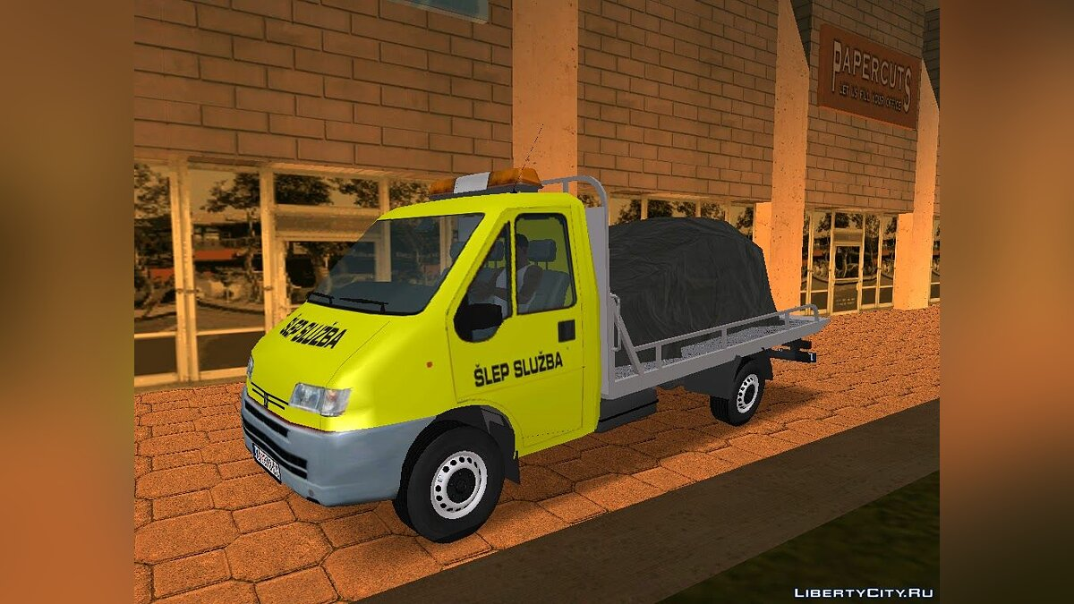 Peugeot car Peugeot Boxer Tow Truck for GTA San Andreas