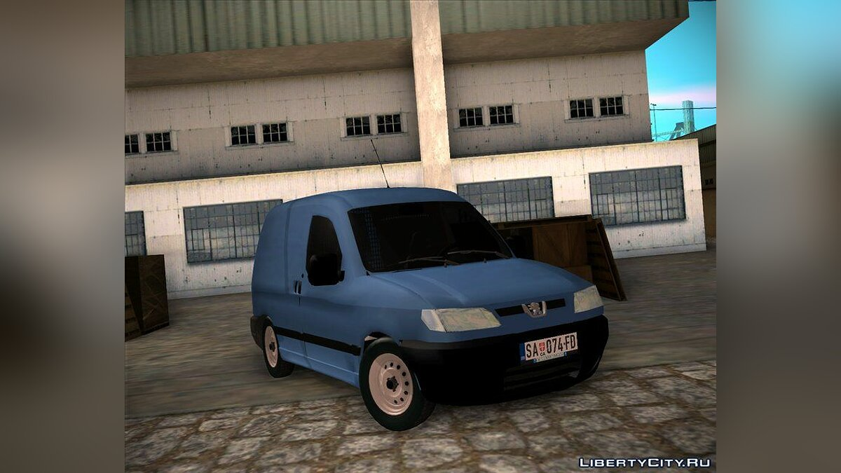 Peugeot car 1996 Peugeot Partner Mk1 Furgon for GTA San Andreas