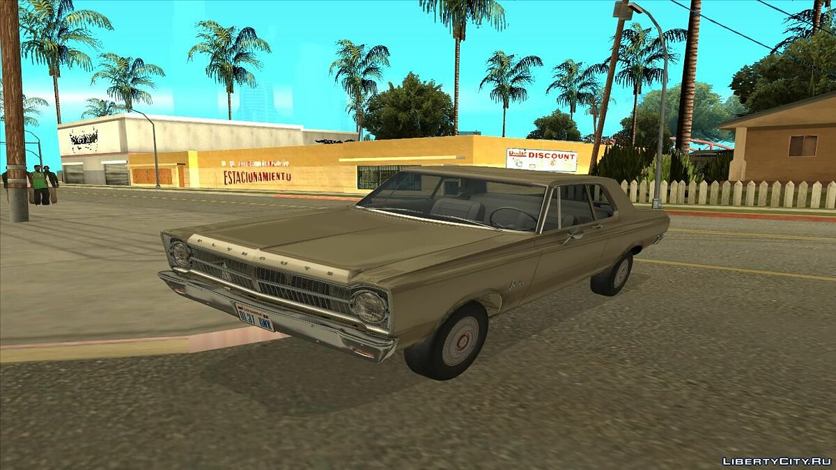 Plymouth car Plymouth Belvedere 1965 2-door Sedan for GTA San Andreas