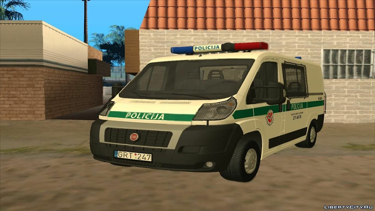 Police car Fiat Ducato Lithuanian Police for GTA San Andreas