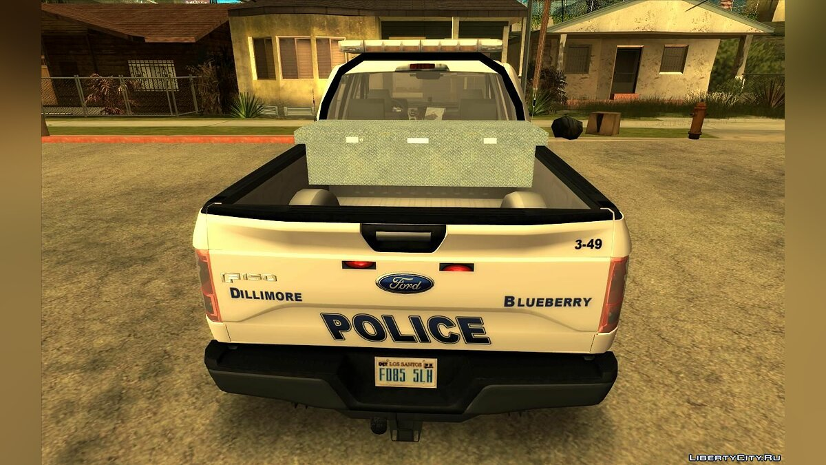 Police car 2017 Ford F-150 Dillimore - Blueberry Police Department for GTA San Andreas