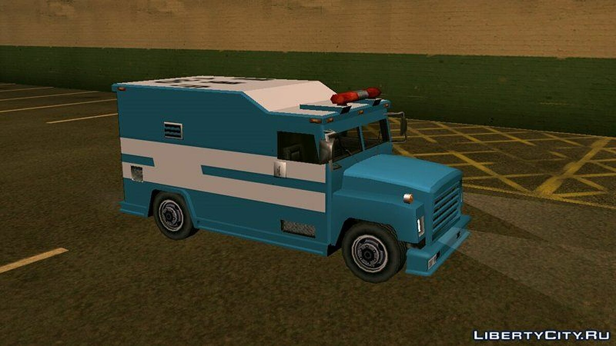 Police car Riot Police Van (Securicar x Enforcer Style) for GTA San Andreas
