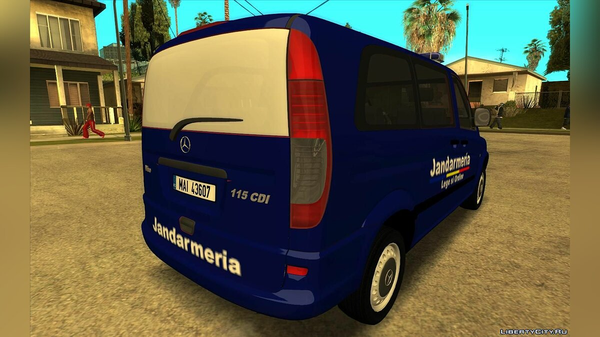 Police car Mercedes-Benz Vito - Jandarmeria Romana for GTA San Andreas