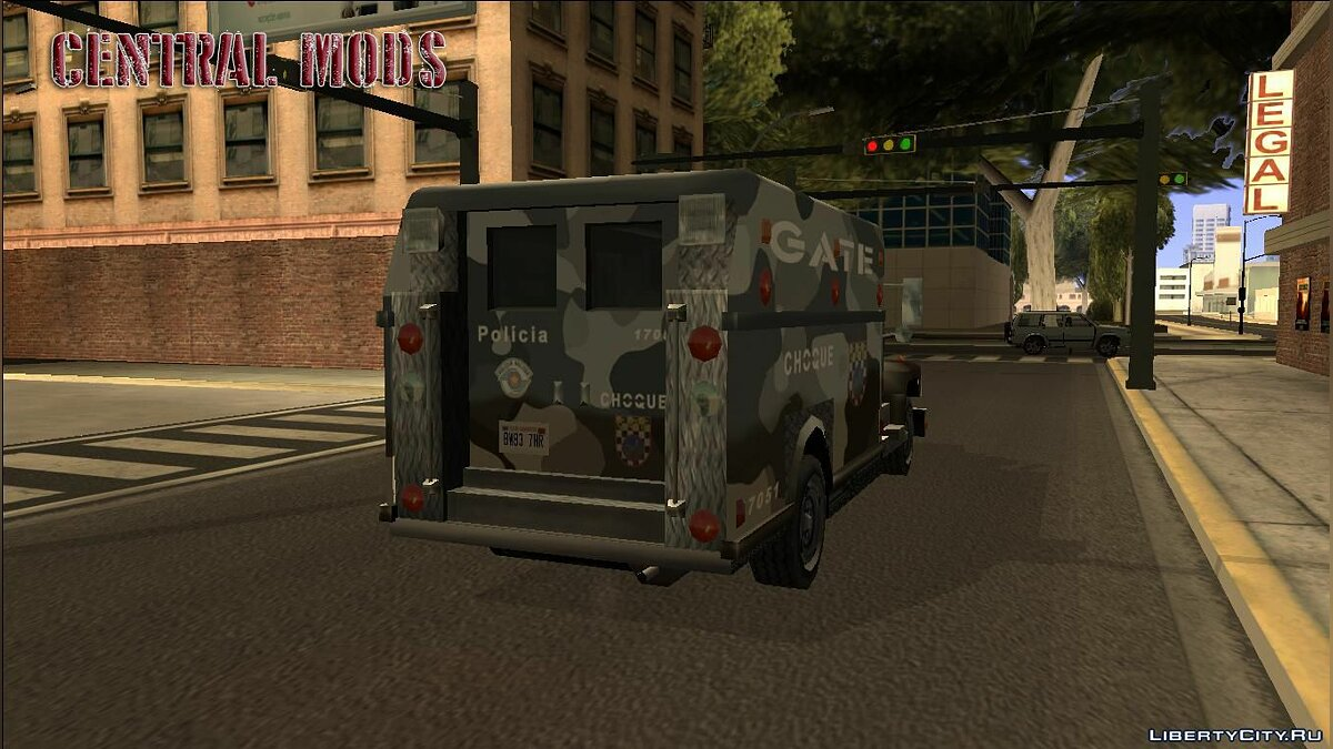 Police car Enforcer - GATE SP - improved special forces van for GTA San Andreas