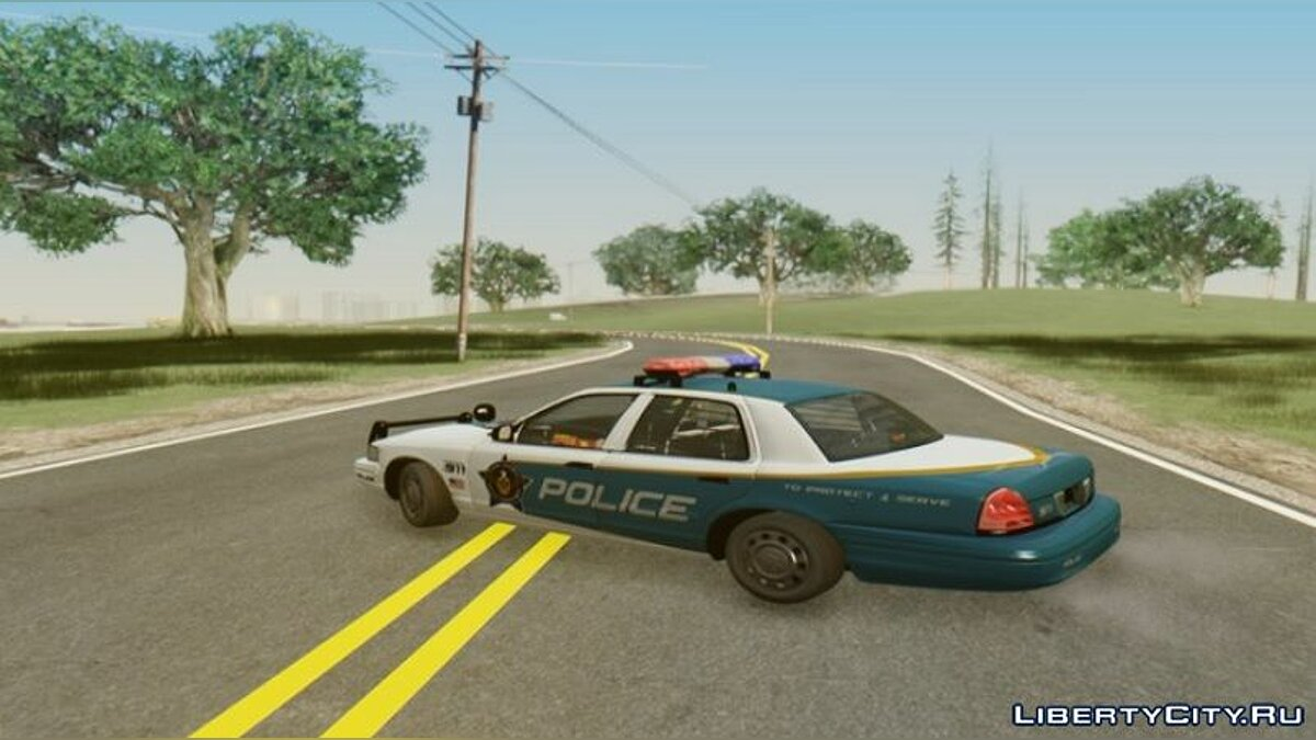 Police car 2008 Ford Crown Victoria Palm City Police Department for GTA San Andreas