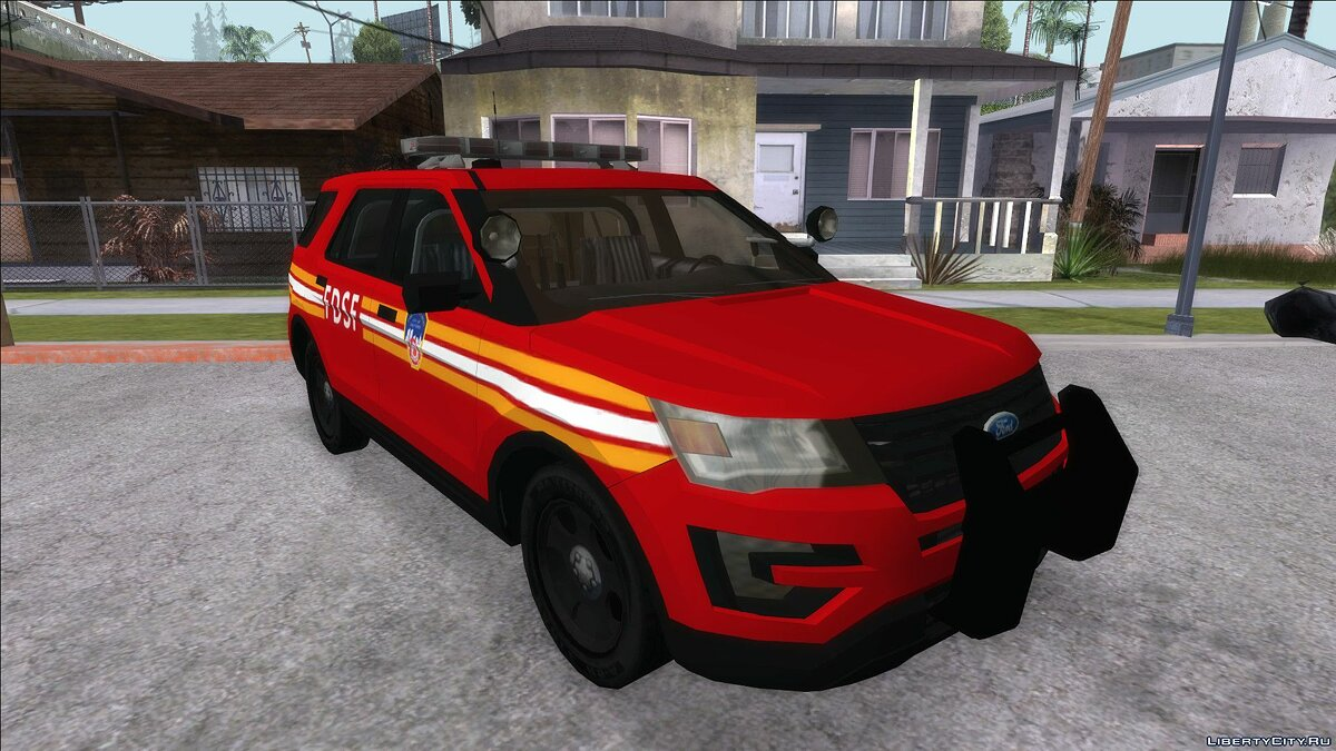 Police car FBI Rancher for FD with EML for GTA San Andreas