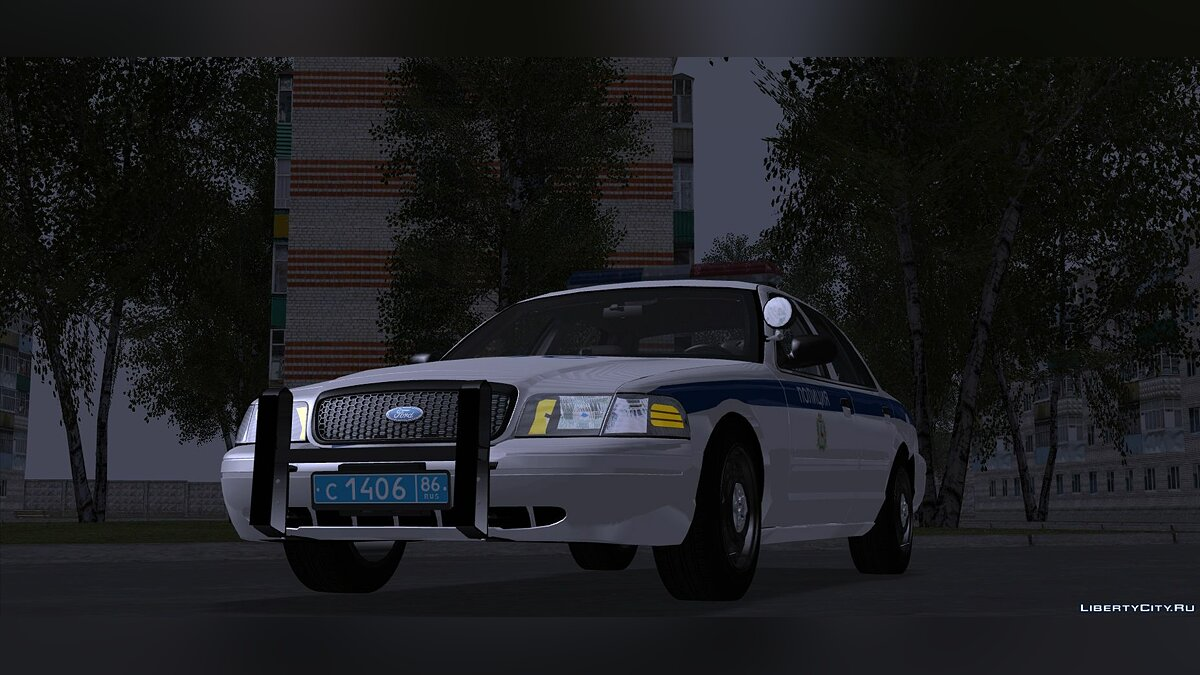 Police car FORD Crown Victoria in DPS color graphics for GTA San Andreas