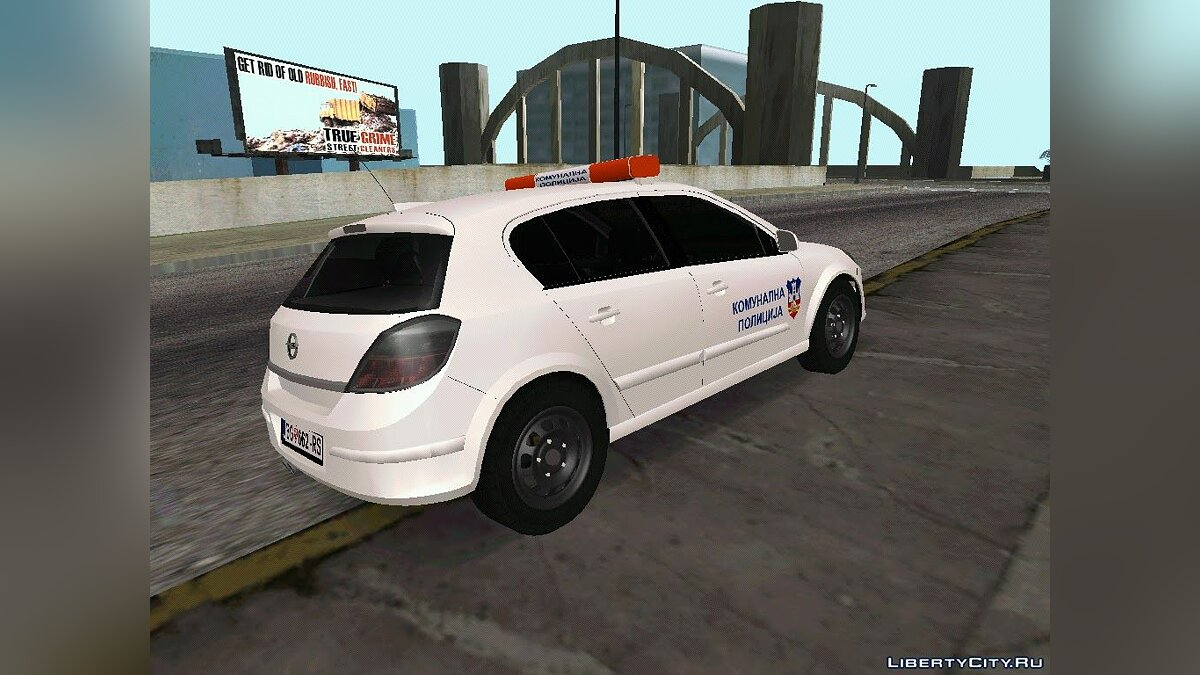 Police car Opel Astra H Communal Police Belgrade for GTA San Andreas