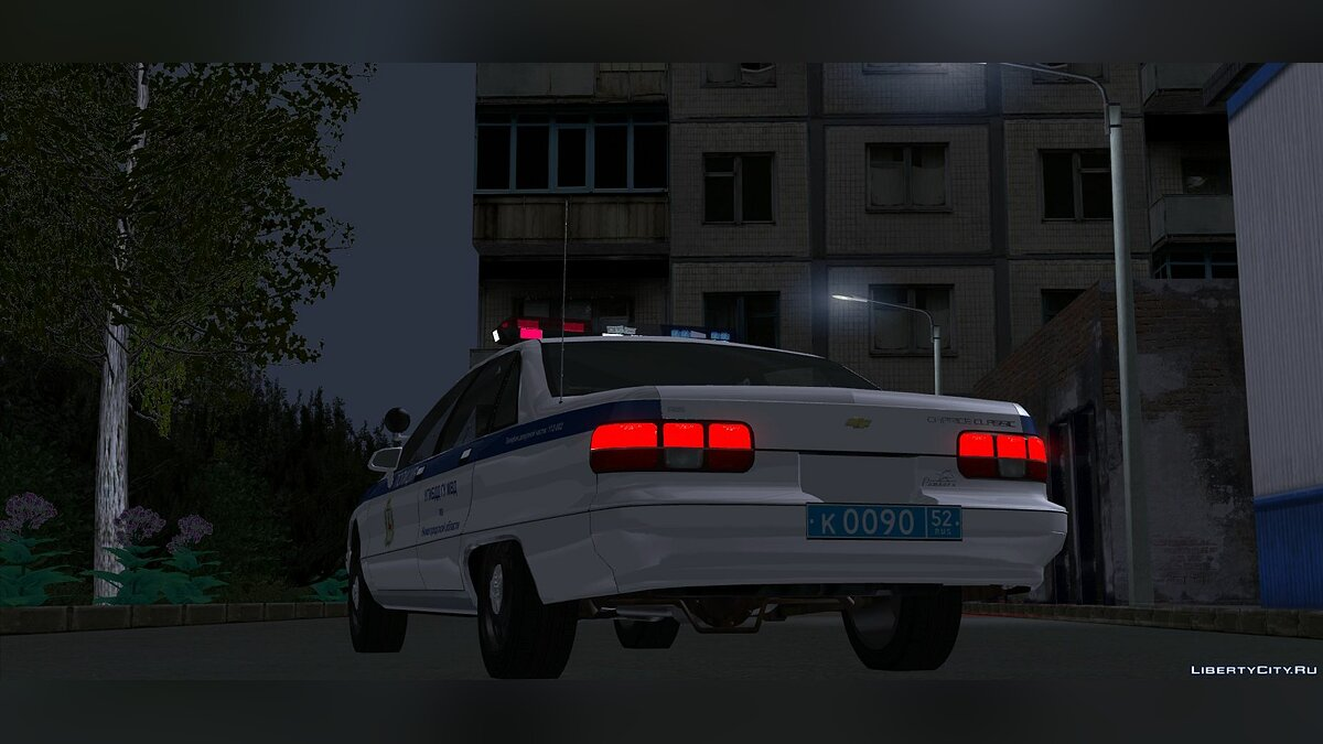 Police car CHEVROLET Caprice in DPS color graphics for GTA San Andreas
