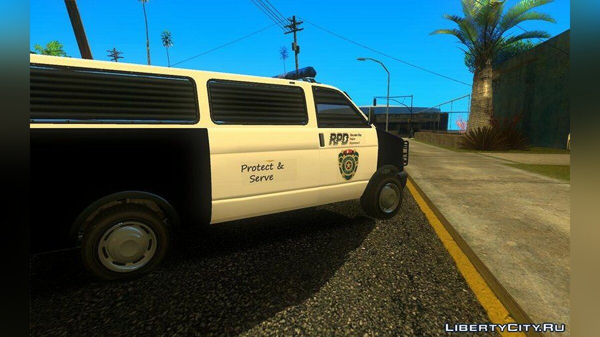 Police car Declasse Burrito Police Transport R.P.D for GTA San Andreas