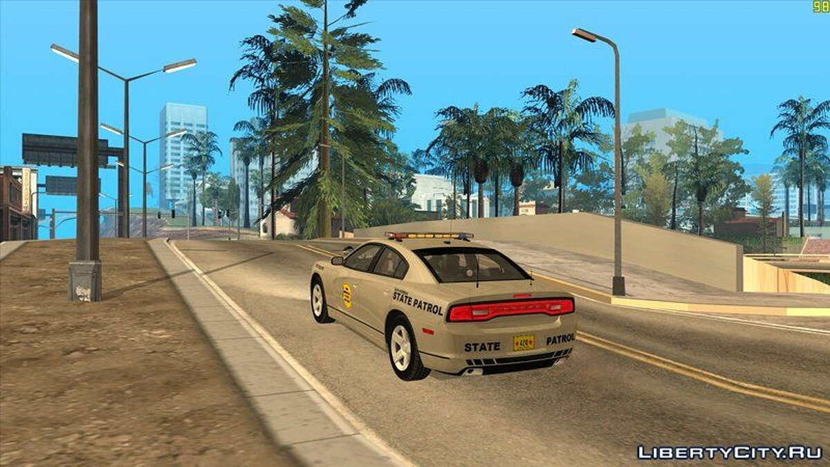 Police car 2012 Dodge Charger San Andreas State Patrol for GTA San Andreas