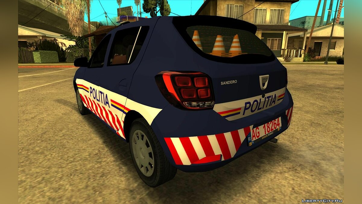 Police car 2018 Dacia Sandero - Police for GTA San Andreas