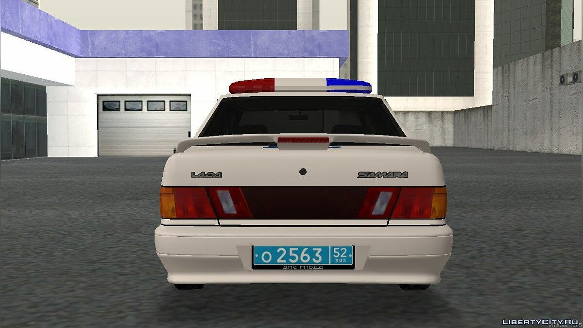 Police car VAZ 2115 ABOUT DPS traffic police for GTA San Andreas