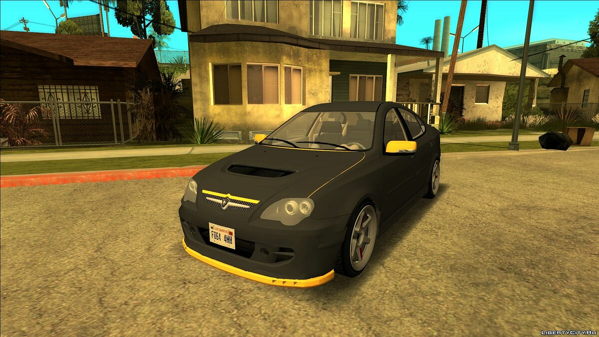 Proton car Proton Persona Black Yellow for GTA San Andreas