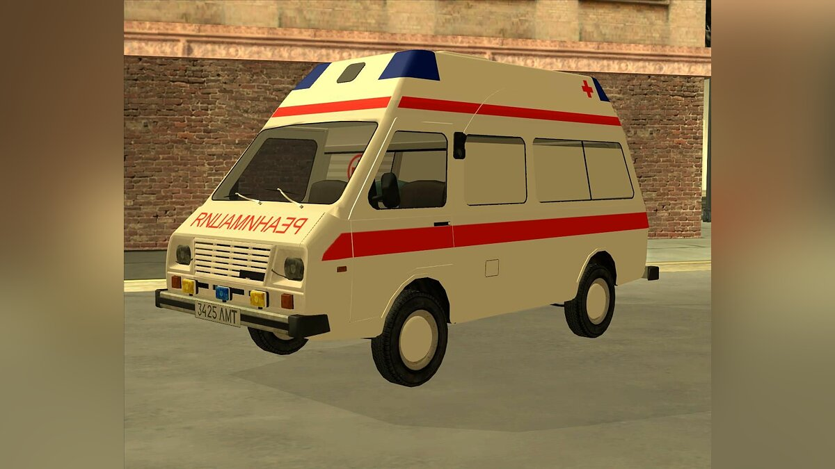 RAF car RAF 2914 Tampo for GTA San Andreas