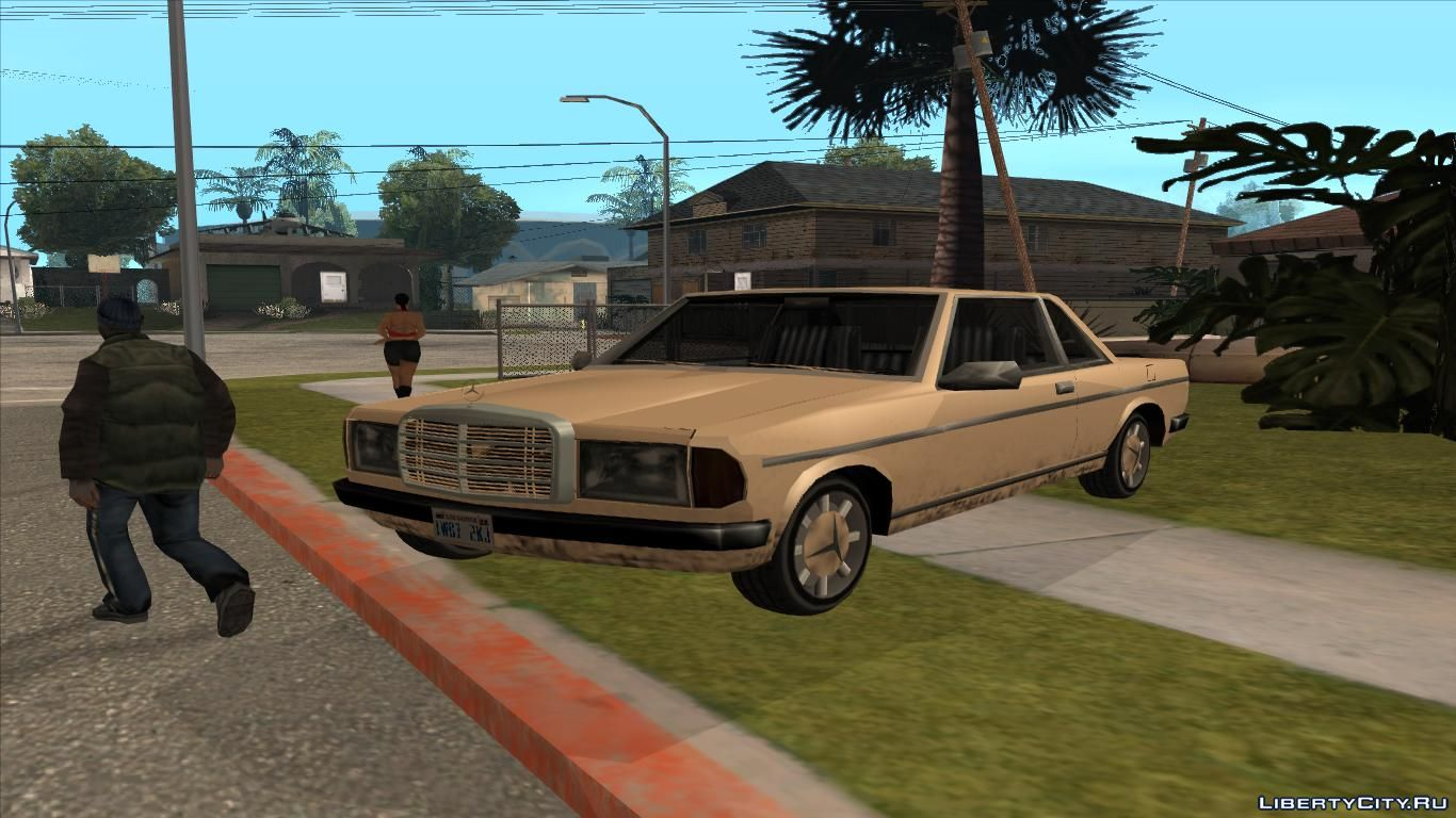 Mercedes-Benz W123 Coupe Low Poly for GTA San Andreas