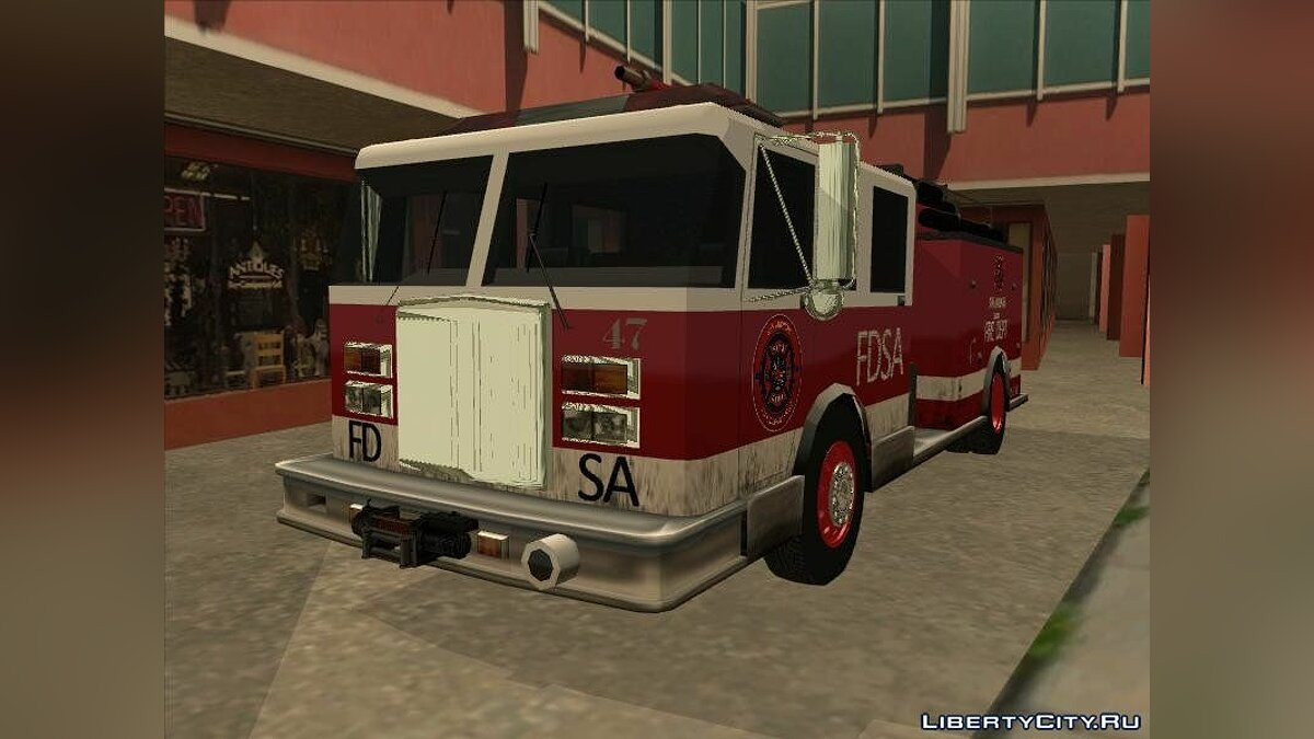 Cars Firetruck Remastered for GTA San Andreas