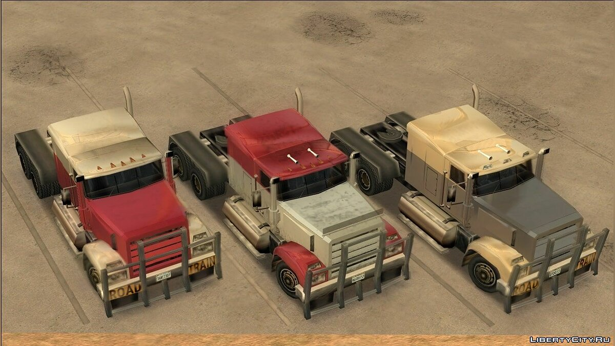 Cars Improved Vanilla Semi Trucks for GTA San Andreas
