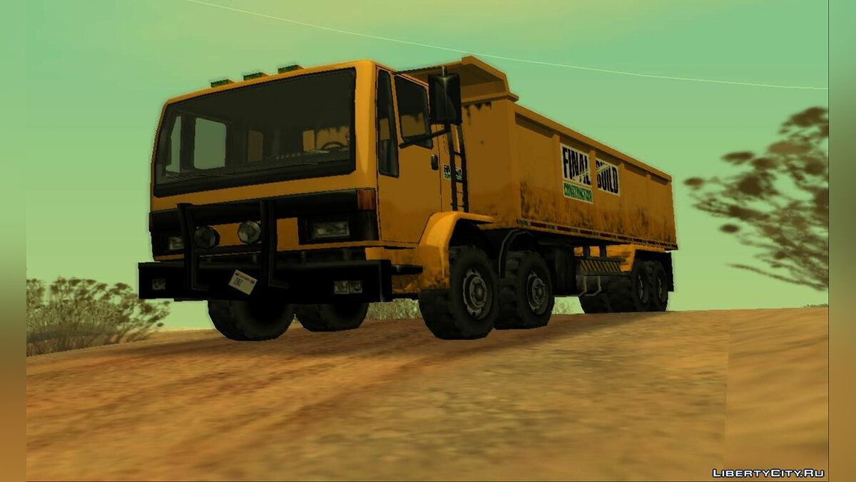 Cars DFT-40 Dump Truck 8X8 [SA Style] for GTA San Andreas