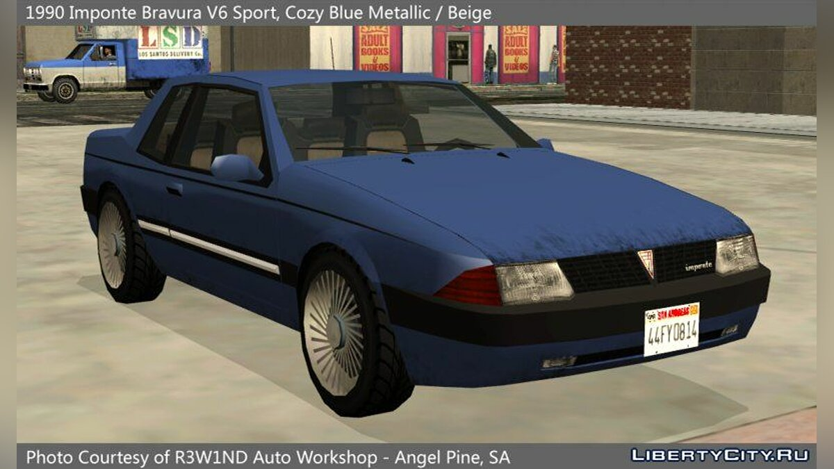 Cars Imponte Bravura V6 Sport 1990 for GTA San Andreas