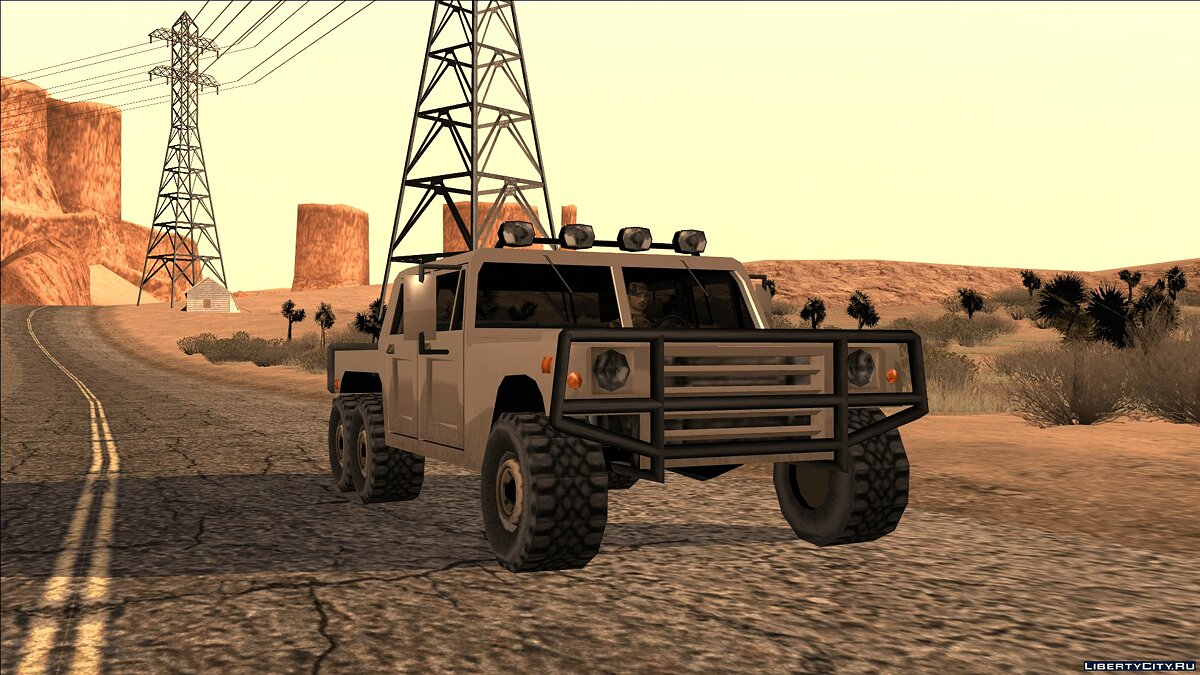 Cars Mammoth Patriot 6x6 [SA | Edit] for GTA San Andreas